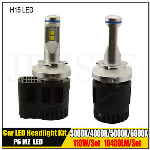 H15 Canbus P6 110w Car Led Headlight Conversion Kit Replace For Halogen Hid Bulb
