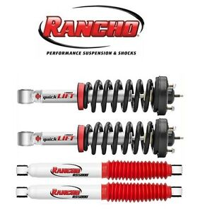 Rancho Quicklift Leveling Struts Rear Rs5000 Shocks Kit For Titan 04 15 2wd