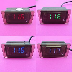 5 30v Dc Digital Mini Led Display Panel Voltmeter Voltage Meter Motorbike Ip65