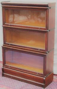 Macey Oak Barrister Bookcase With Extra Large D 12 1 4 Base