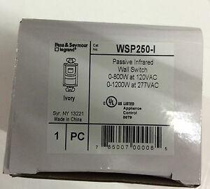 1 Pass Seymour Wp250 i Passive Infrared Wall Switch Ivory Free Us Shipping