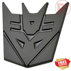 Transformers 3 Inches Decepticon All Black Sticker Logo Emblem Badge Decal Truck