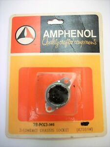 Amphenol 78 pcg3 78 Series 3 Contact Chassis Mount Female Jack Socket