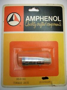 Amphenol 80 f 80 Series 1 Contact Cable Mount Female Jack Socket