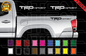 Trd Sport Decals Toyota Tundra Tacoma Truck Bed Vinyl Stickers X2 2012 2017