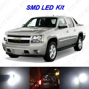 12 X Ultra White Led Interior Bulbs License Plate Lights For Chevy Avalanche
