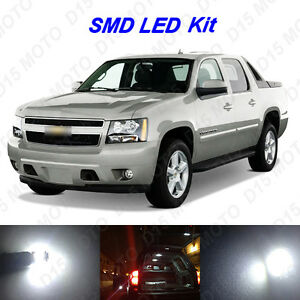 14 X White Led Interior Fog Reverse Tag Lights For 2007 2013 Chevy Avalanche