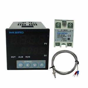 Itc 106vh Digital Pid Temperature Controller K Sensor 40 Ssr Fahrenheit Fan