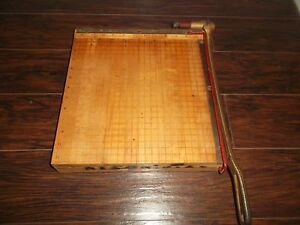 Vintage 1950 s Ingento No 4 Wooden Paper Cutter Photo Trimmer Great Condition