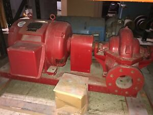 New Fairbanks Morse Emergency Fire Pumps 110hp 3560rpm Marathon 12lead 60hz 50hz