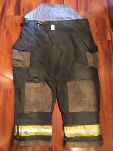 Firefighter Turnout Bunker Pants Cairns 48x28 Black Bib Halloween Costume