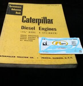 Caterpillar Diesel Engine 5 3 4 Bore 4 Cyl Servicemens Reference Book