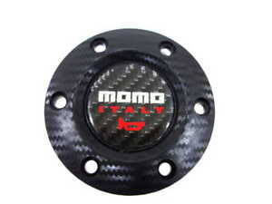 Momo Carbon Fiber Racing Car Steering Wheel Horn Button Cover For Most Of Cars