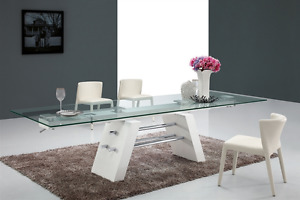 Casabianca 79 116 Glass Conference Table With Unique White Lacquer
