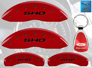 Mgp Caliper Brake Covers For Ford 2010 2012 Taurus Red Paint Custom Black Logo