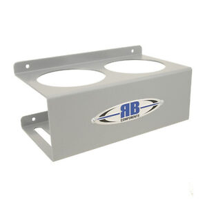 Rb Components Aluminum Wall Mount 2 can Cup Holder 2295 8