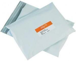 100 7 14 5 X 19 White Poly Courier Mailers Envelopes Plastic Shipping Bags