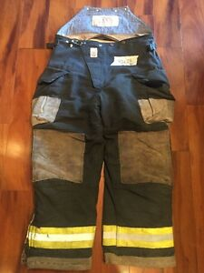 Firefighter Turnout Bunker Pants Cairns 40x28 Black Bib Halloween Costume