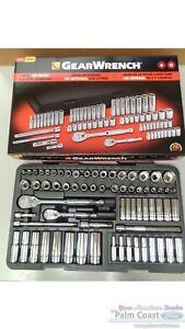 Gearwrench 83000 68 Piece 1 4 3 8 Inch Sae Metric Standard Deep Socket Set