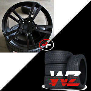 20 524 Style Satin Black Wheels W Tires Fits Porsche Cayenne