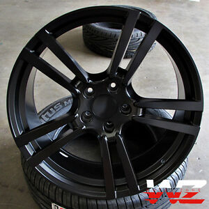 20 Split 5 Satin Black Wheels Rims Fits Vw Touareg Audi Q7 Porsche Cayenne