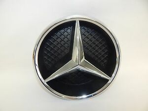 New Oem 11 17 Mercedes benz Front Grill Grille Emblem Housing Badge Beam Star