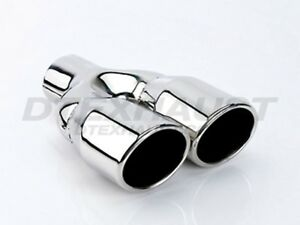Different Trends Dt 24030dl Dual Oval Round Stainless Exhaust Tip 2 25