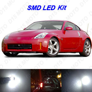 7 X White Led Interior Bulbs License Plate Lights For 2003 2009 Nissan 350z