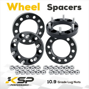 4x Wheel Spacer Adapters 1 Thick 6x5 5 12x1 5 Fit For Gmc Tacoma 4runner 6 Lug