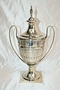 Magnificent Tiffany Co Sterling Silver Urn With Top Trophy