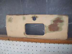 1939 39 Chevy Closed Car Dash Glove Box Lid Rat Rod Barris Custom Rod Scta