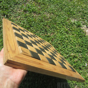 13 Vintage Wooden Chess Backgammon Checkerboard Game Box Figures 4