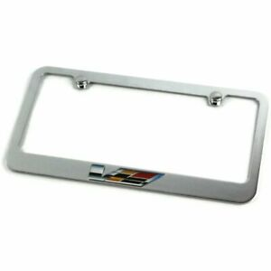Cadillac V Series Logo Metal Chrome License Plate Frame