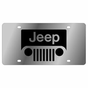 Stainless Steel Plate New Jeep Grill Black License Plate Frame 3d Novelty Tag