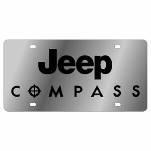 Stainless Steel Jeep Compass Stainless Steel Black License Plate Frame Novelty