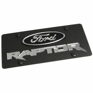 Stainless Steel Black Ford Raptor Mirror Logo License Plate Frame 3d Novelty