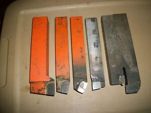 Lot Of 6 Brazed Carbide Lathe Bits Firthite Other