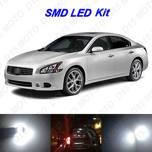 19 X White Led Interior Bulbs Fog Reverse Tag Lights For 2009 2014 Nissan Maxima