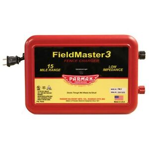 Parmak Fieldmaster 2 Low Impedance 110 120 Volt 15 Mile Range Electric Fence Cha