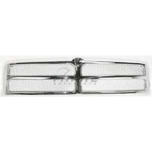 New Front Grille Chrome Frame Silver Ch1200178 Fits 1994 02 Dodge Ram 1500 2500