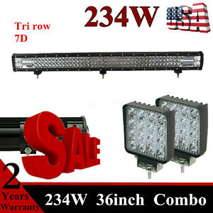 36 Inch 234w Led Light Bar Combo Truck Offroad 4 18w Cube Jeep Ford 32 38 42