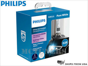Authentic Philips D2r 6000k Ultinon 85126wx Hid Headlight Bulbs 35w Germany Pair