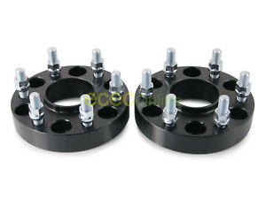 2pc 1 5 Hubcentric 6x5 5 Wheel Spacers W 14x1 5 Studs For Cadillac Chevy Gmc