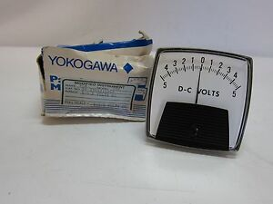 New In Box Yokogawa 250321lsls dc Volt 0 Center Analog Meter