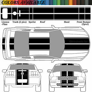 2005 09 Ford Mustang Eleanor Rally Racing Stripes 2006 07 08 2009 Decals Precut