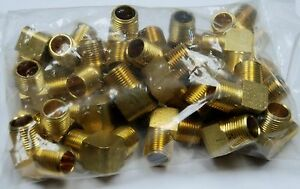 Brass Fittings 90 Male Elbow Extruded Male Pipe 3 8 Qty 25