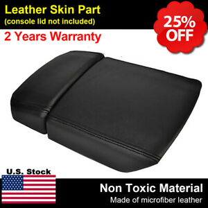 Leather Center Console Lid Armrest Cover Fits Toyota 4runner 2003 2009 Black