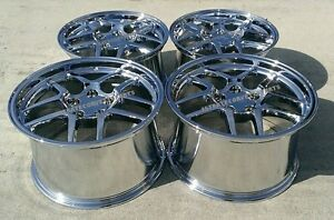 Chrome C5 Z06 Style Corvette Wheels 1997 2004 C5 Z06 17x9 5 18x10 5 Combo Set