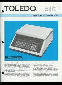Rare Vintage Original Toledo Scale Brochure 8182 Digital Parts Counting Scale