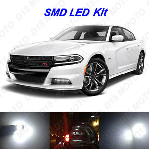 16 X White Led Interior Bulbs License Plate Lights For 2011 2016 Dodge Charger